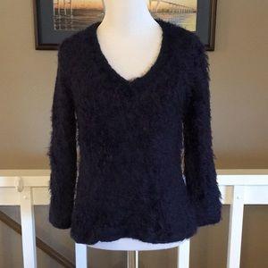 B1G1 TopShop Navy Fuzzy Super Soft Sweater Size 2